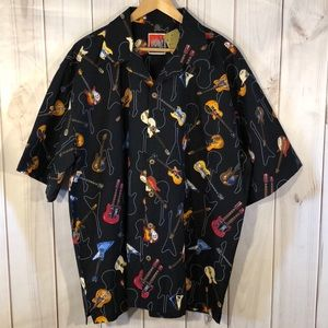 (NWT) D'EMCRAZY Men's guitar button up shirt 2XL